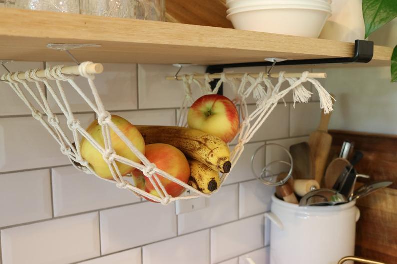 Under the counter fruit hammock