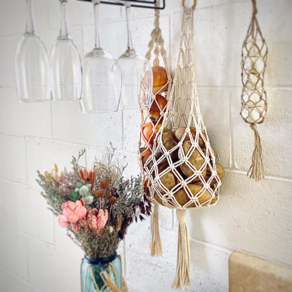 Kitchen wall storage Vegetable bag