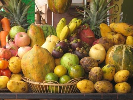 Mango, Banana and Mangosteen